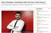 Ajans Başkanımız Murat Özdoğan 2018 Yılı Yayıncı Hedefini Öncevatan Gazetesine Açıkladı
